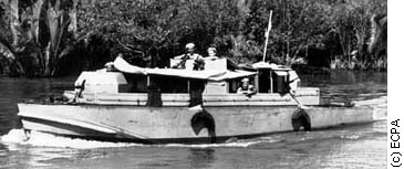 A long FOM boat on patrol