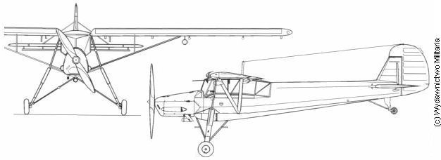 Fieseler Fi.156 C-1 Front and profile views