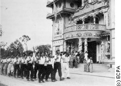 Cao Dai forces on parade in 1948